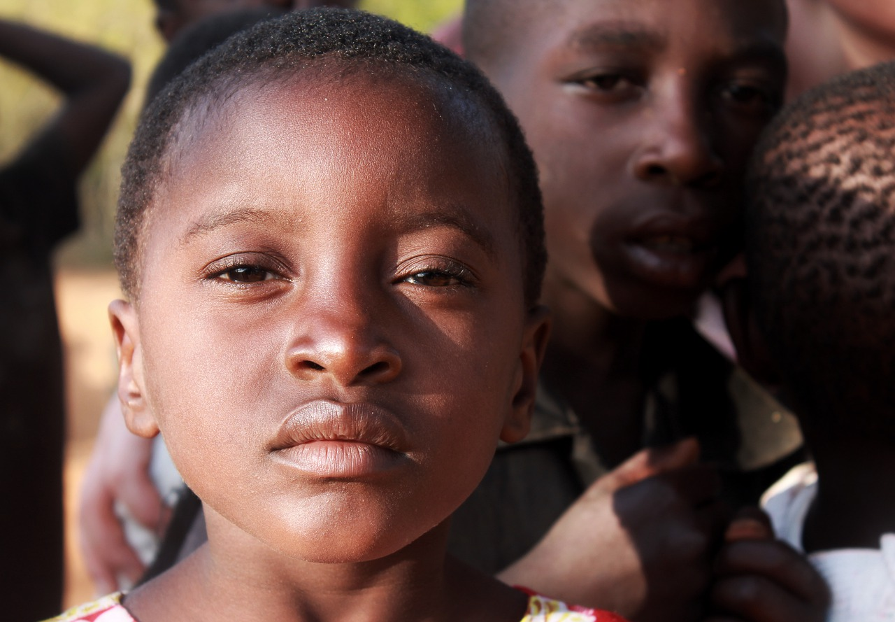 child, face, african
