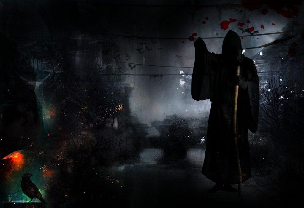 death, dark, black