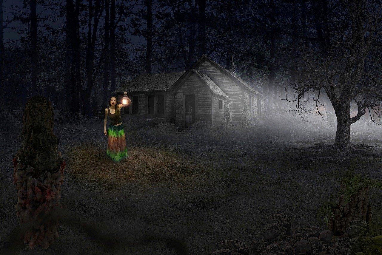 ghost, horror, dark