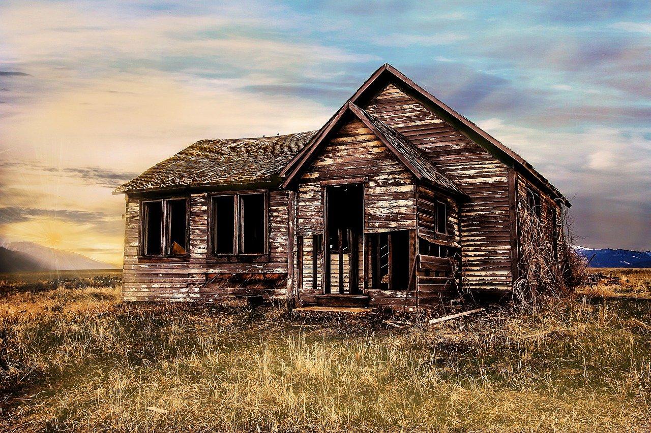 old farmhouse, decay, farmhouse